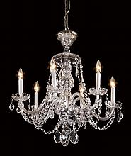 6-light cut crystal chandelier