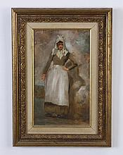 Late 19th c. oil on board, signed