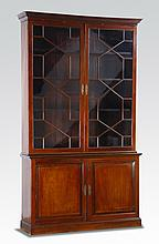 Late 18th c. English mahogany bookcase