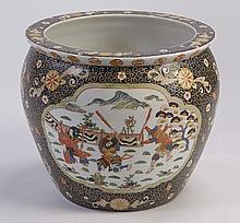 Mid 20th c. Chinese ceramic fishbowl