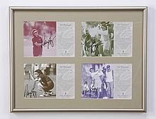 Nancy Lopez framed, signed advertisements