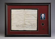 1801 Land conveyance, signed James Monroe