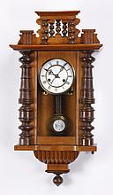 Early 20th c. walnut regulator clock