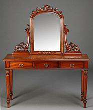 Mahogany ladies' dressing table