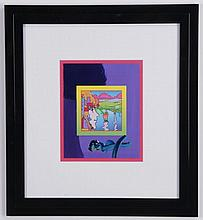 Peter Max signed mixed media on paper