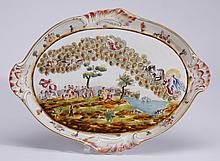 Mid 20th c. Capodimonte platter, marked