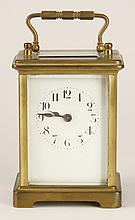 19th c. French bronze carriage clock