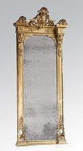 Late 19th c. gilt wood pier mirror