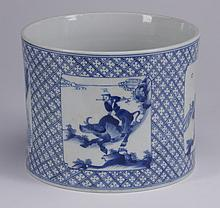 Chinese blue and white ceramic cachepot
