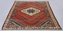 Early 20th c. Qashqai wool rug