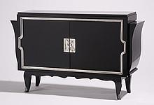 Art Deco style ebonized wood cabinet