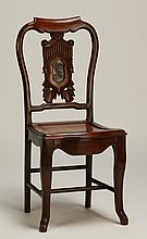20th c. Asian carved side chair