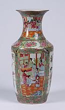 19th c. Chinese famile rose porcelain vase
