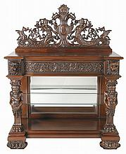 Mahogany server in the manner of R.J. Horner