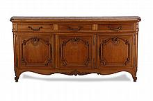 19th c. French Provincial oak buffet