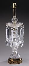Continental crystal table lamp
