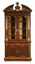 19th c.  American oak bookcase