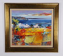 Christian Henze signed oil on canvas