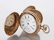 19th c. Waltham gold pocket watch