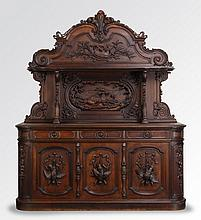 19th c. carved oak huntboard