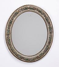 Early 20th c. carved and decorated mirror