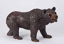 Early 20th c. Black Forest carved bear