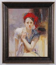 Rosario Tapia signed oil on canvas