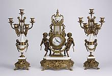 (3) Piece Italian garniture set