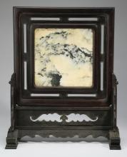 Chinese 'dream stone' tabletop screen, 22