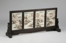 Chinese porcelain (4) panel table screen,23
