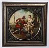 19th c. Royal Vienna framed porcelain plaque