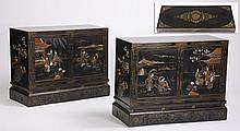 (2) 20th c. Chinoiserie decorated chests