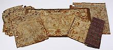 (9) French needlepoint tapestry fragments