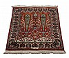 Semi-antique hand knotted Persian prayer rug