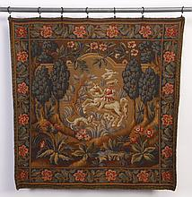 20th c. handwoven wool tapestry