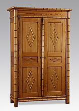 Contemporary faux bamboo cabinet