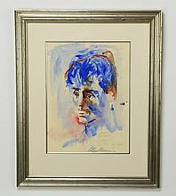 Leroy Neiman signed W/c on paper of 'Rocky'