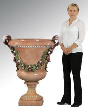 Neoclassical glazed earthenware urn, 44