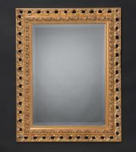 Italian beveled mirror w/ carved gilt frame
