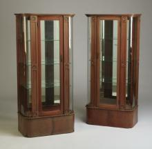(2) Early 20th c. American vitrines
