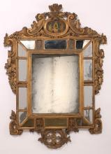18th c. Continental giltwood mirror, 51