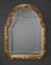 Italian beveled mirror w/ verde floral frame