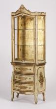 Italian hand decorated curio cabinet