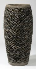Oversized layered stone vase, 40