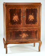 French marquetry inlaid cabinet, early 20th c.