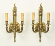 (2) Neoclassical style torch-form sconces