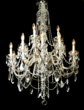Continental 15-light crystal chandelier, 46