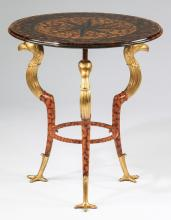 Egyptian Revival style side table, 24