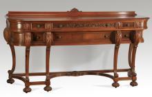 Early 20th c. Berkey & Gay style walnut sideboard