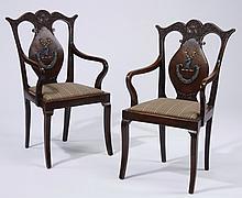 (2) 19th c. English mahogany armchairs